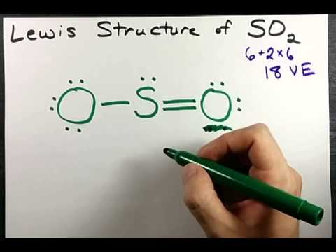 Lewis Structure Of So2 Sulfur Dioxide Youtube