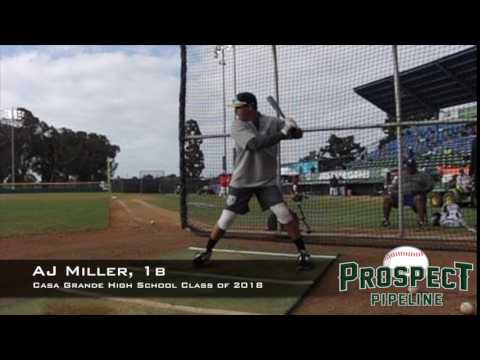 AJ Miller, 1b, Casa Grande High School Class of 2018, Swing Mechanics at 200 FPS