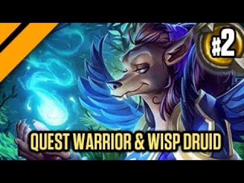Hearthstone: The Witchwood - Quest Warrior & Wisp Druid!