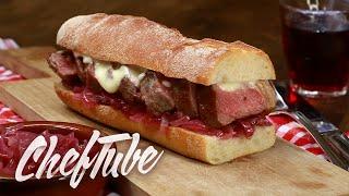 Como Preparar Sandwich De Carne Con Mermelada De Cebolla - Receta En La Descripción