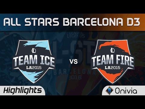 Team Ice vs Team Fire Assassins Mode Highlights All Stars Barcelona 2016 D3