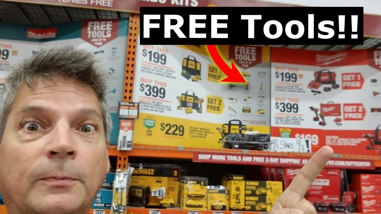 Home Depot LIVE! Free Power Tools Black Friday DeWalt Deals
