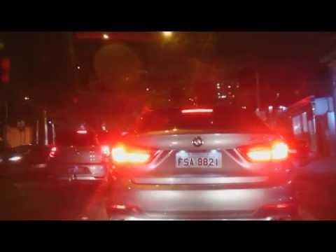 Driving in São Paulo, Brazil at night