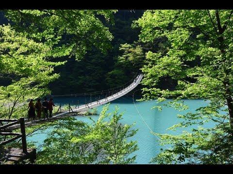 寸又峡の大間ダム、夢の吊橋/ドローン(DJI Phantom 4 PRO PLUS)で空撮