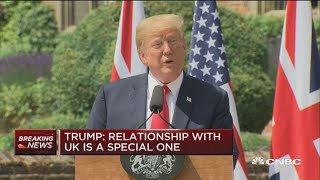 Trump: US relationship with UK is 'indispensable'