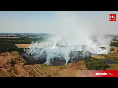 Heidebrand in Wateren vanuit de lucht