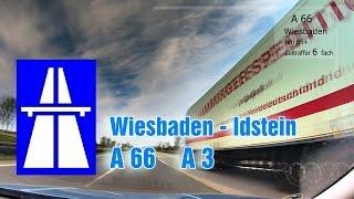 Autobahn A 66, A3, Wiesbaden - Idstein