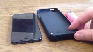 Реальный обзор. Чехол аккумулятор (чехол-зарядка) для iPhone 5/5S/5C