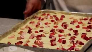How To Make National Trust Rhubarb Cheesecake Traybake