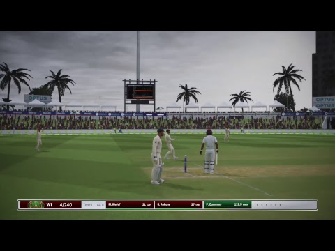 Ashes Cricket - Tour of the Carribean - Test Match Day 2 - Aus 439 - West Indies 2/127
