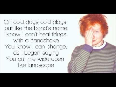 Drunk - Ed Sheeran Lyrics
