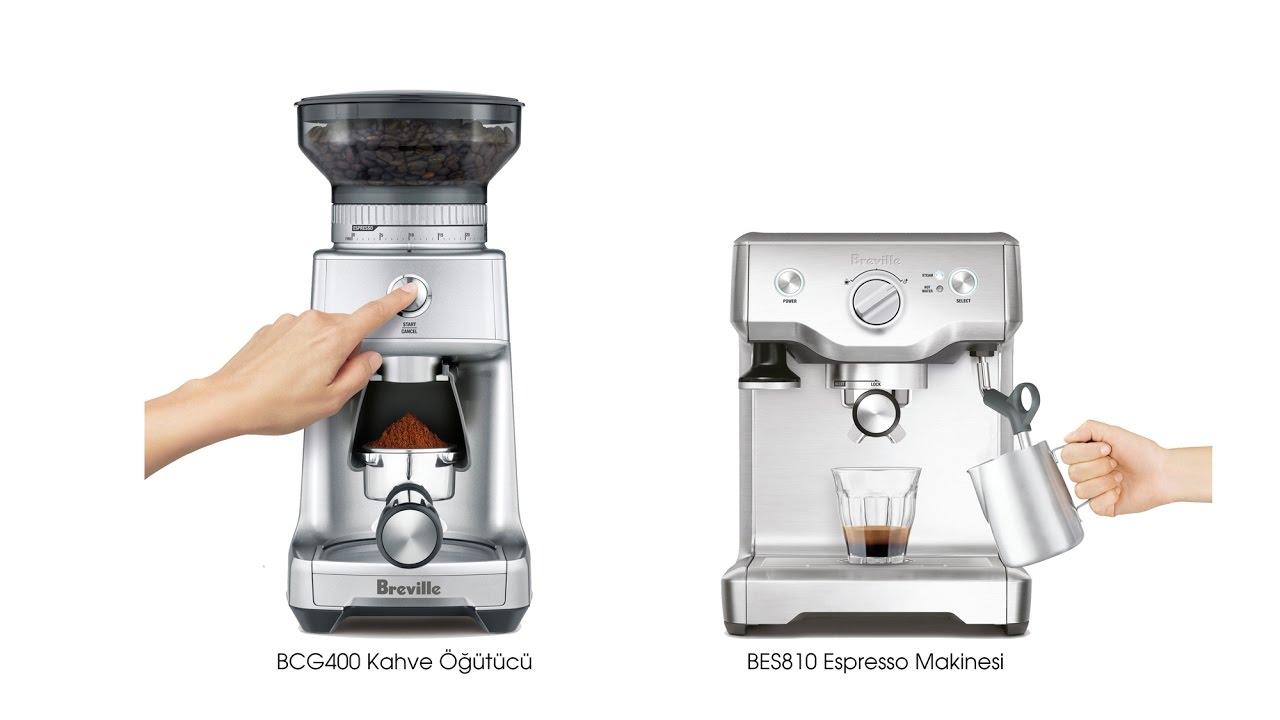 breville bes810 espresso makinesi ve bcg400 kahve tc