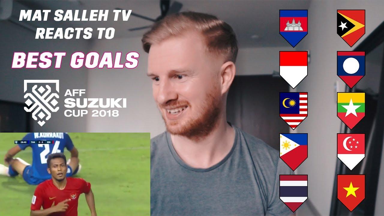 AFF SUZUKI CUP BEST GOALS REACTION FROM MAT SALLEH TV 😱