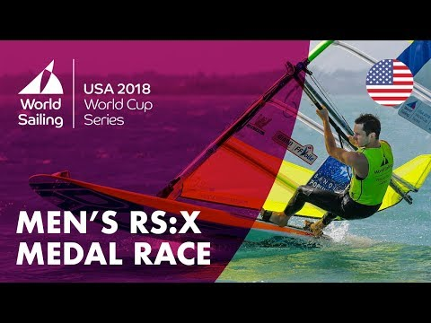Full RS:X Mens Medal Race - Sailings World Cup Series | Miami, USA 2018