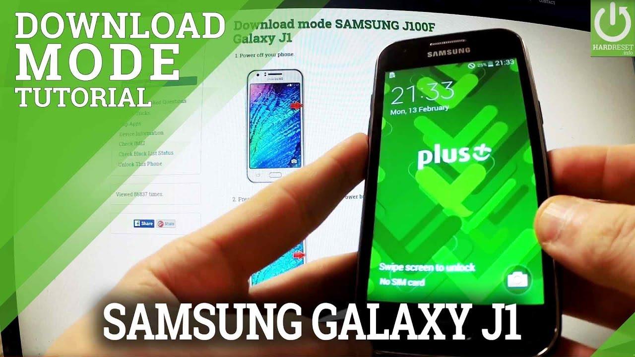 Download Mode SAMSUNG J100H Galaxy J1 - HardReset info