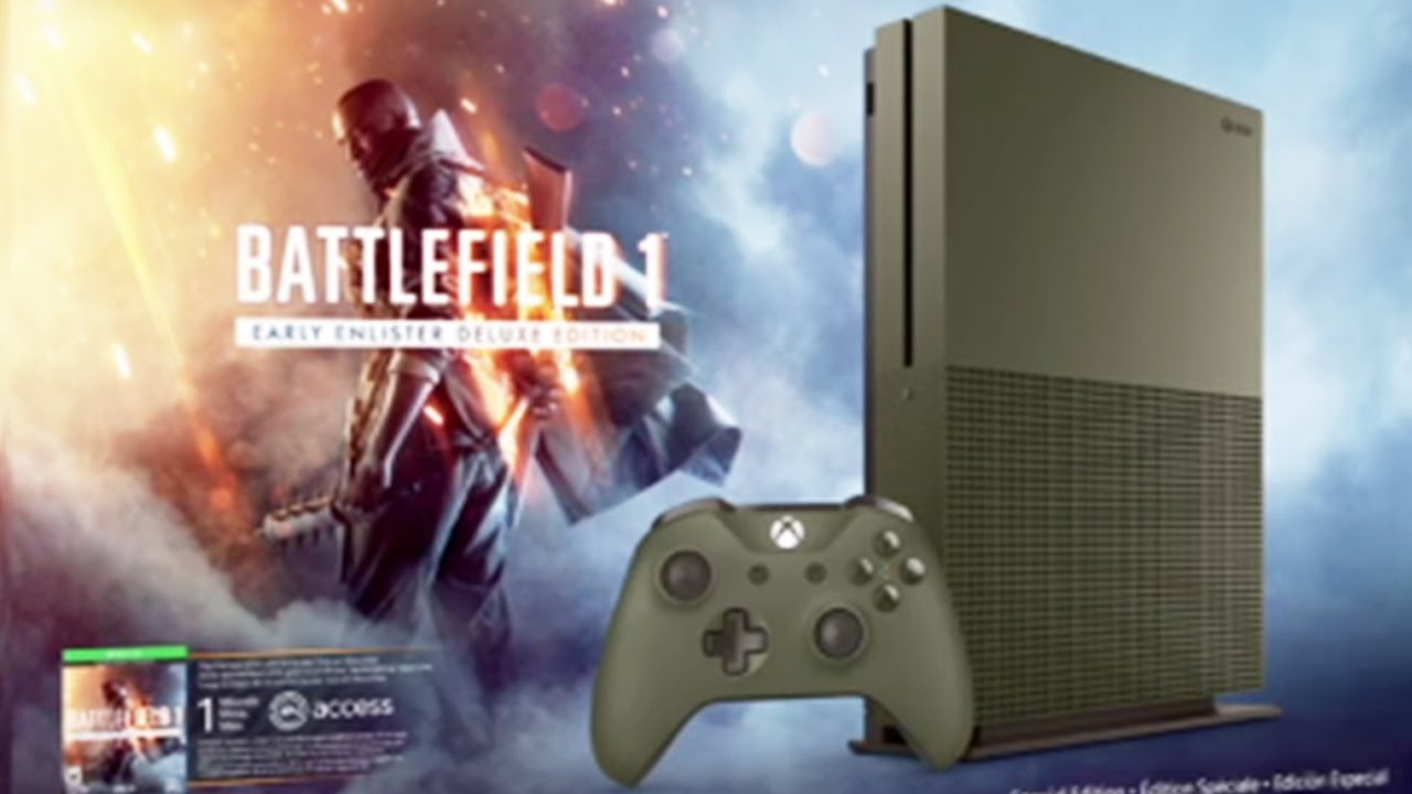 Battlefield 1 Xbox One S Military Green Special Edition