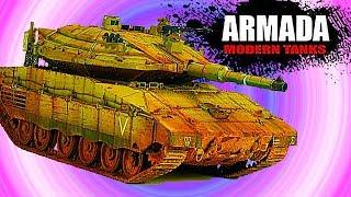 ARMADA WORLD OF MODERN TANKS Merkava Мульт танки Онлайн игра Боевые машинки.Бои танков Видео #40