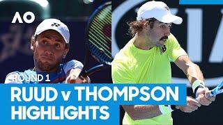 Casper Ruud vs Jordan Thompson Match Highlights (1R)