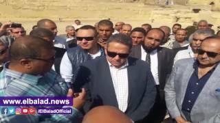 وزير الآثار يتفقد معبد سيتي الأول وأهم الاكتشافات الأثرية بسوهاج.. صور وفيديو
