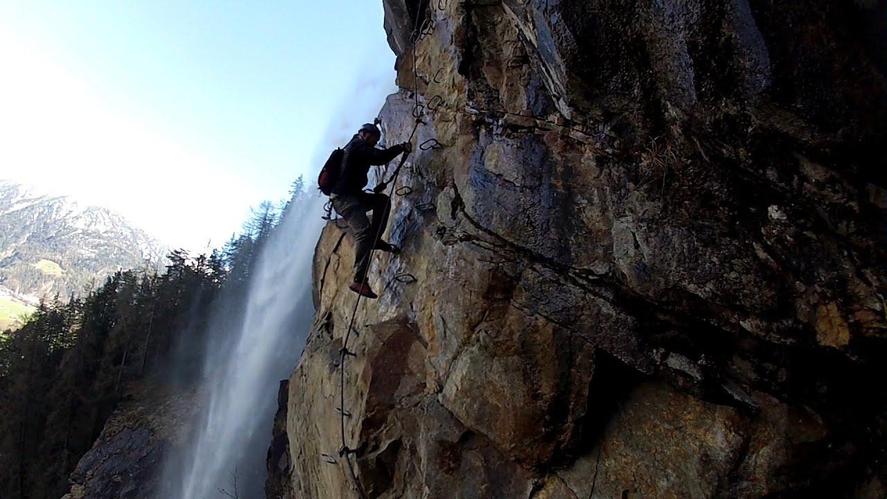 Klettersteig Lehner Wasserfall : Klettersteig lehner wasserfall kat. d e. längenfeld in oetztal