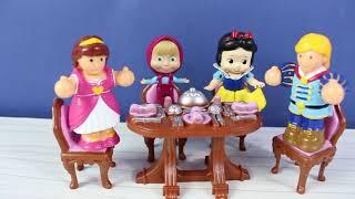 Pamuk Prenses Ve Maşa Tanışıyor Maşa İle Pamuk Prenses Yemek Yiyor Çizgi Film