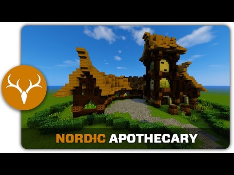 Minecraft Building Tutorial : How to build a Nordic Apothecary