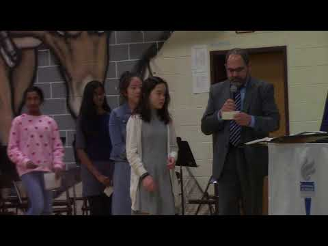 Annual 7th Grade Induction Ceremony to National Junior Honor Society of Rocky Run Middle School 2