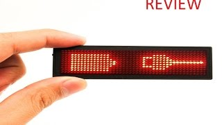MECO LED Programmable Name Tag Review
