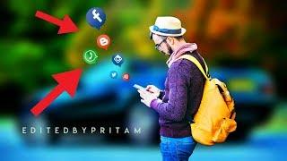 Picsart social networking manipulation part 2 | Free PNG | Picsart editing tutorial