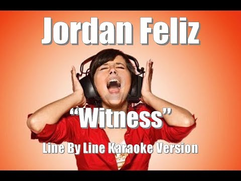 "Jordan Feliz ""Witness"" Karaoke Version"