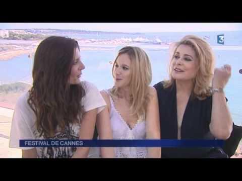 FESTIVAL DE CANNES 2011, les interviews - Catherine Deneuve, Chiara Mastroianni et Ludivine Sagnier