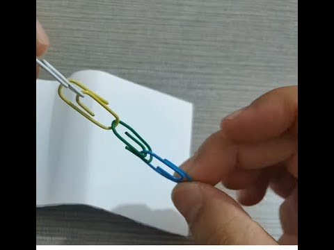 Short-time crafts with paper clips