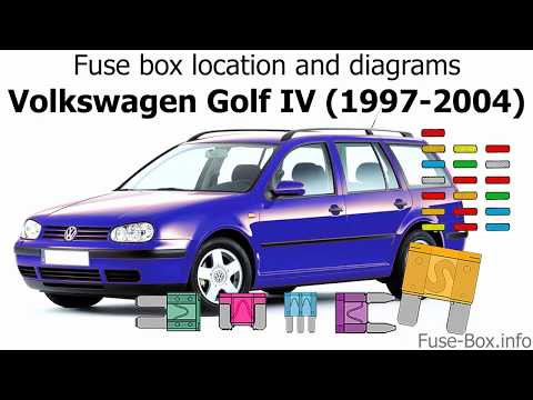 fuse box location and diagrams: volkswagen golf iv / bora (1997-2004) -  youtube