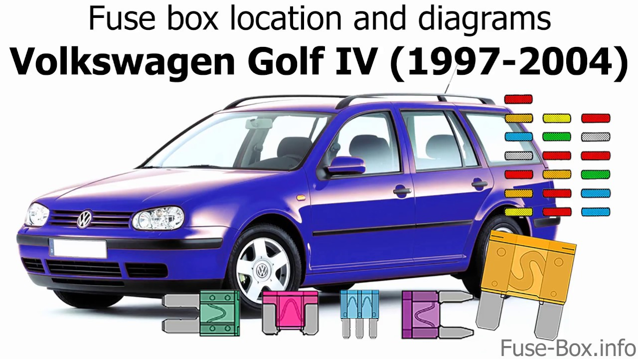[DIAGRAM_38EU]  Fuse box location and diagrams: Volkswagen Golf IV / Bora (1997-2004) -  YouTube | 2000 Vw Golf Fuse Box Diagram |  | YouTube