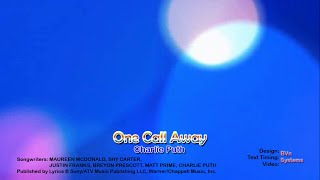 One Call Away - Charlie Puth Karaoke