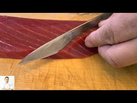 How To Cut Tuna For Sushi And Sashimi: Part 2 | How To Make Sushi Series