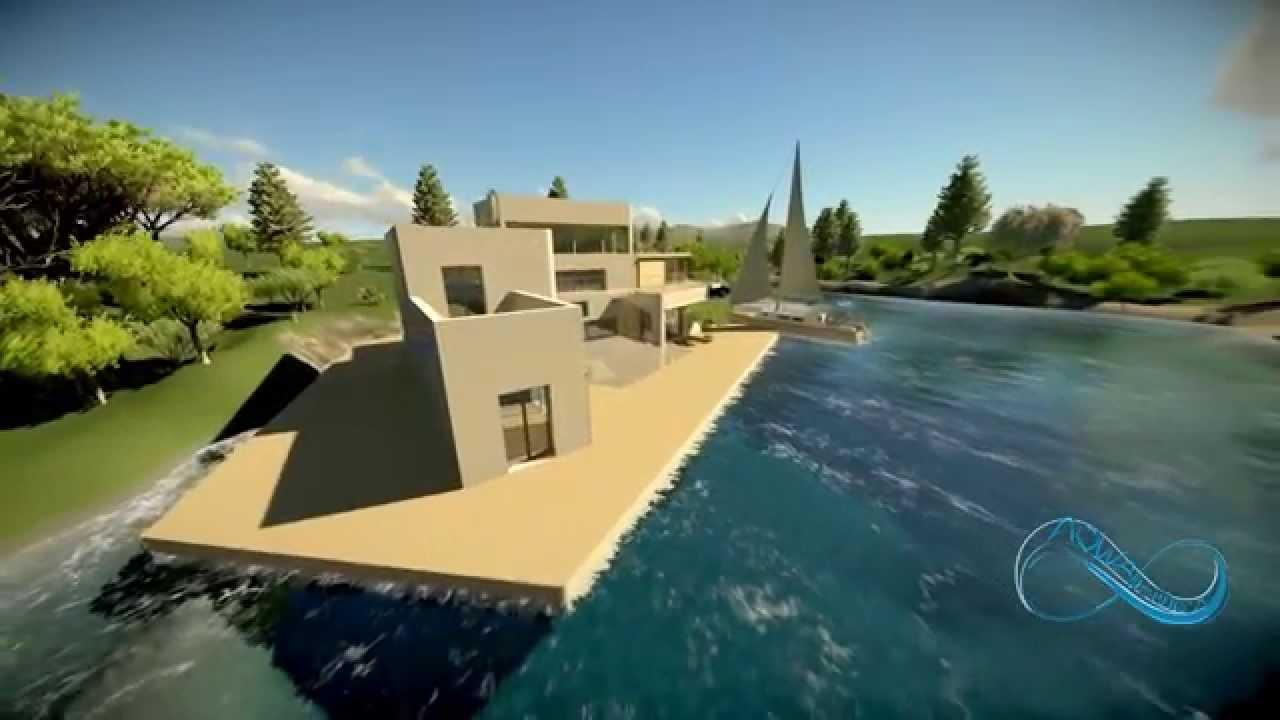 Maison flottante demi niveaux youtube - Maison flottante ...