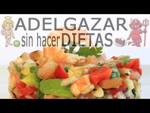 Ensalada de dieta con camarones