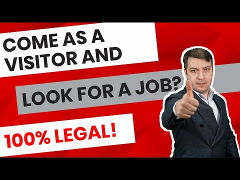 Search For A Job When Coming To Canada As A Tourist?
