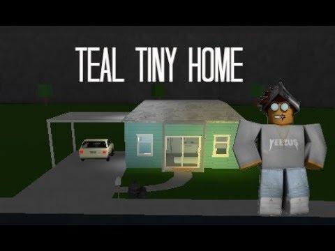 Roblox Welcome To Bloxburg Teal Tiny Home Speedbuild