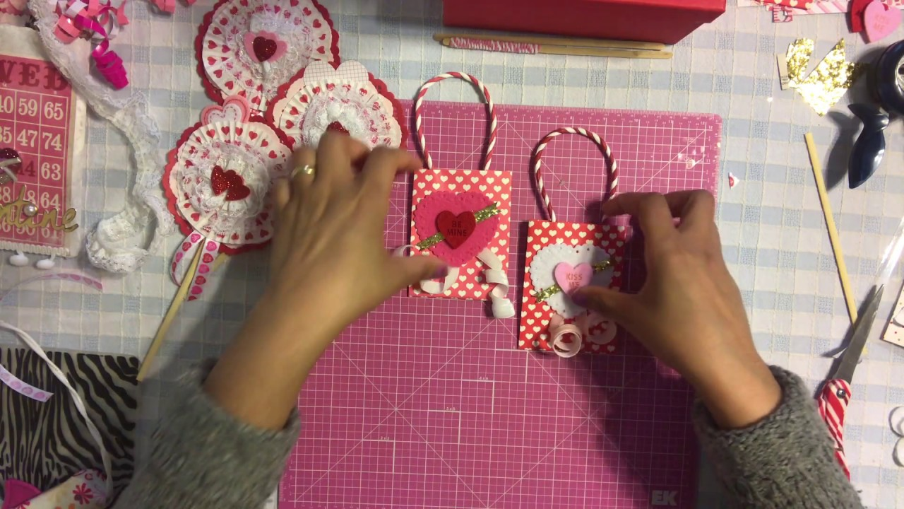 7 valentines day series 2017 mini treat gift bags valentine goodie bag party favors - Valentines Goodie Bags