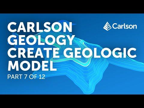 Carlson Geology   Create Geologic Model (Part 7/12)