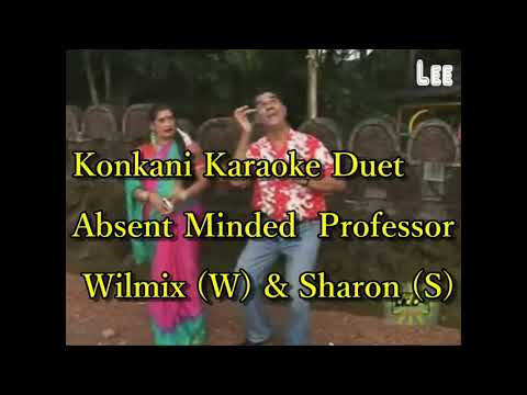 Konkani karaoke Duet  Absent Minded Professor(Sing-a-Long with them)