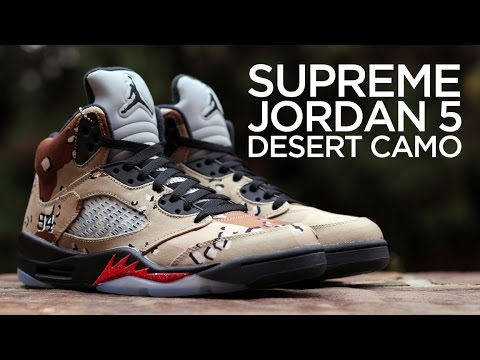 c4c07a5c2078 Closer Look  Supreme x Air Jordan 5 Retro -
