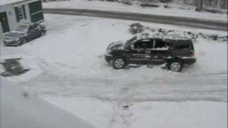 Nissan Armada in snow