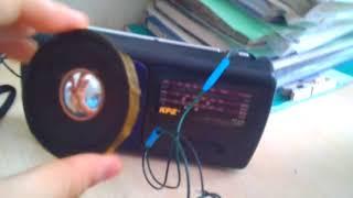 как сделать колонку из радио.