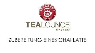 TEEKANNE TEALOUNGE System Professional Edition: Zubereitung eines Chai Latte