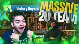 *NEW* MASSIVE 20 PERSON TEAM MODE! SCAR PATCH? JOHN WICK SLAUGHTER! FORTNITE BATTLE ROYALE! MUST SEE