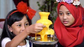 Cheese fountain challenge Azka dan Mecca