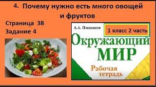 Салат/Почему нужно есть много овощей №4 (Окружающий мир 1 класс Крючкова)